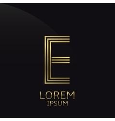 Letter E logo vector