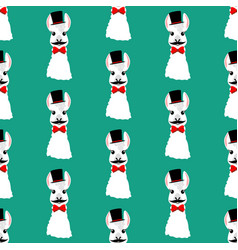 Llama head seamless pattern vector