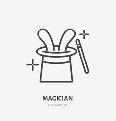 magician line icon logo for vector image