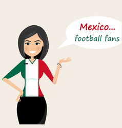 mexico football fanscheerful soccer fans sports vector image