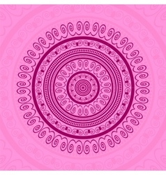 Pink Circle Lace Ornament vector