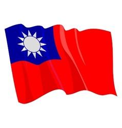 Political waving flag of taiwan vector