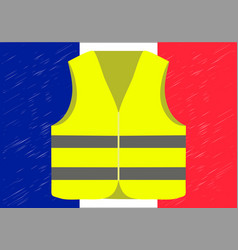 Protests of yellow vests in france suitable for vector