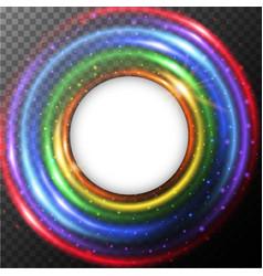 round border with rainbow light vector image