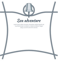 sea adventure banner and text vector image