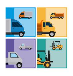 Set of tranport vehicles vector