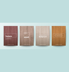 Set wood texture background wooden board vector