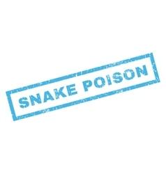 Snake Poison Rubber Stamp vector
