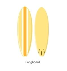 Surf Board Longboard Shape vector