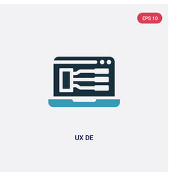 Two color ux de icon from programming concept vector