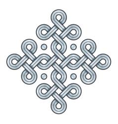 Viking decorative knot - engraved silver - ring vector