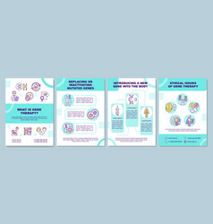 what is gene therapy brochure template vector image