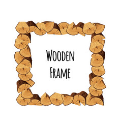 Wooden frame of tree triangle-shaped and semi vector