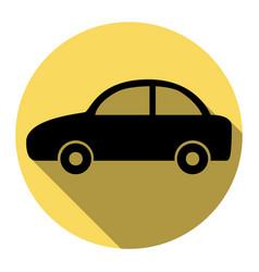 car sign flat black icon vector image