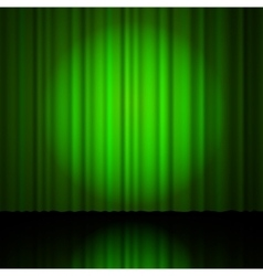 green curtain from the theatre vector image vector image