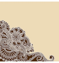 Hand Drawn Abstract Henna Doodle Design Element vector image vector image