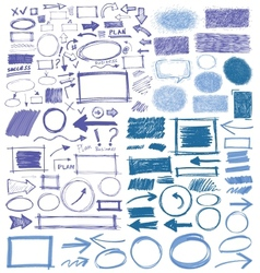 hand-painted strokes vector image vector image