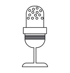 microphone vintage communication audio outline vector image vector image