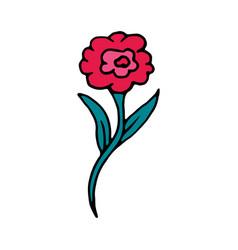 rose flower cartoon icon vector image