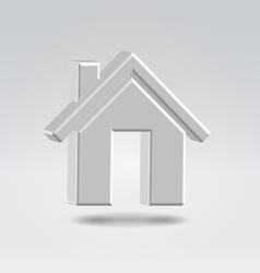 silver house icon vector image vector image