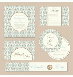 Wedding invitations set vector