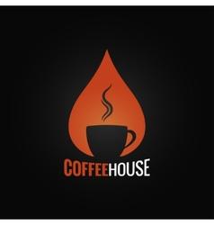 coffee cup drop background vector image vector image