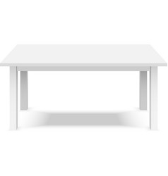 Empty top of white plastic table isolated on white vector image