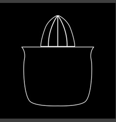 Juicer squeezer white color path icon vector