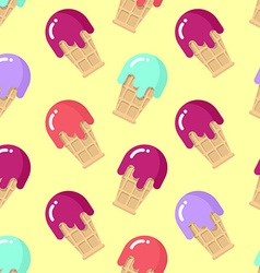 Peppermint ice cream seamless pattern Strawberry vector image vector image