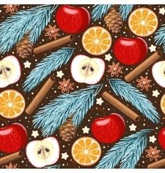 Seamless apple and orange vector image