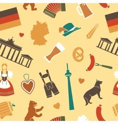 Seamless background with symbols of Germany vector image