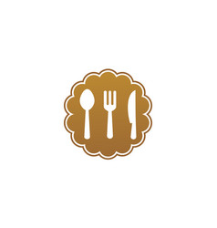 set kitchen logo vector image