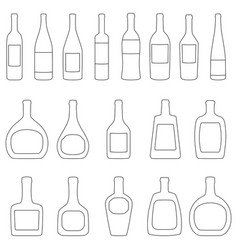 set of bottles with labels vector image vector image