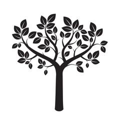 shape of black tree vector image