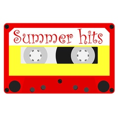 Summer hits vector image vector image