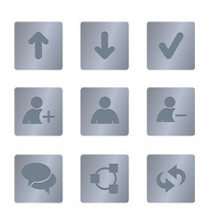 01 steel square chat icons vector image vector image