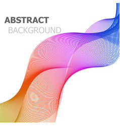 abstract background with colorful line wave vector image