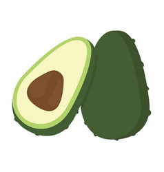 avocado pieces set vector image vector image