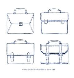 briefcase icons set vector image vector image