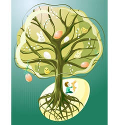 Easter Tree vector image vector image