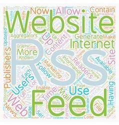 JP rss web site text background wordcloud concept vector image