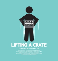 Man Lifting A Crate Symbol vector image