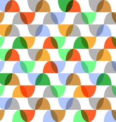 Retro colorful geometric seamless pattern vector image vector image
