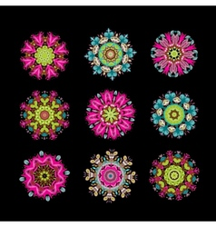 Set of floral arabesque for your design vector image vector image