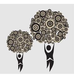 abstract human trees vector image vector image