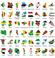 Africa maps vector image vector image