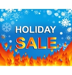 Big winter sale poster with HOLIDAY SALE text vector image vector image