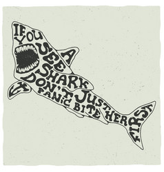 creative animal poster vector image