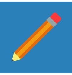 Flat pencil vector image