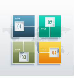 infographic template with four options for vector image vector image
